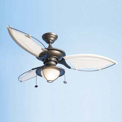 Maritime-inspired ceiling fan