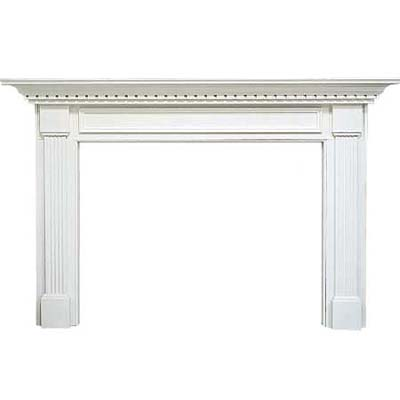 white accented mantel