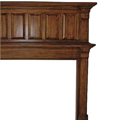 formal mantel with raised paneling