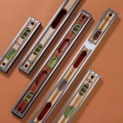 Hardwood classic levels with stainless steel bindings from Crick