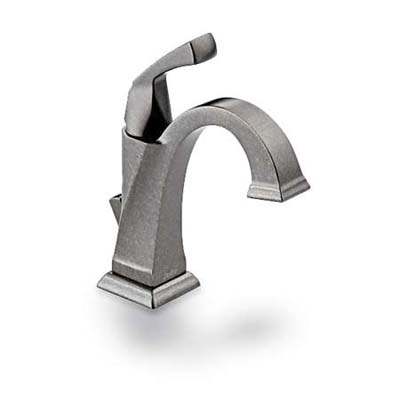 upgrade with this pewter faucet perfect for bungalow baths