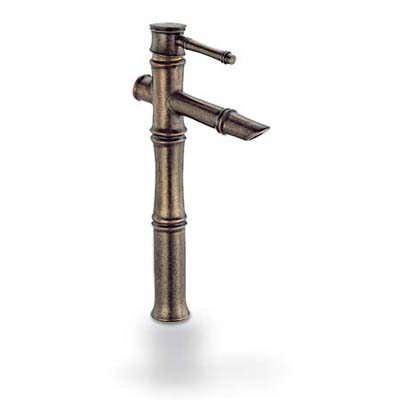 upgrade with this bamboo-look distressed bronze faucet from Danze