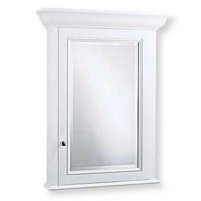 upgrade with this crown molding-topped wall-mount cabinet from robern
