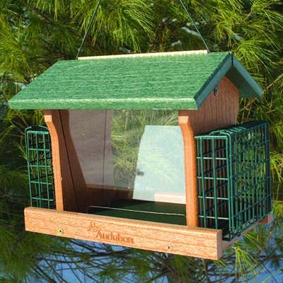 Plastic Ranch Birdfeeder with Suet