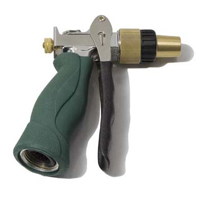 insulated grip with durable brass and stainless steel construction hose nozzle from Lee Valley