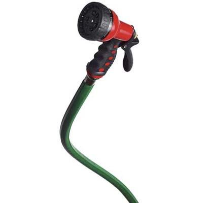Dramm's versatile Revolver hose nozzle has nine spray pattern