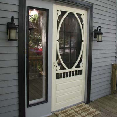 front door after staging
