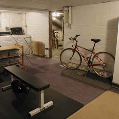 basement after staging
