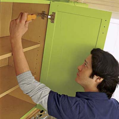 install the drawers, doors and hardware