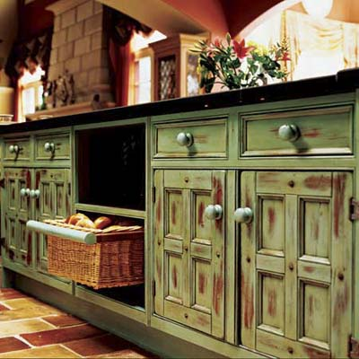 Kitchen on Distressed   Kitchen Cabinet Painting Guide   This Old House