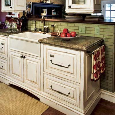 Kitchen Cabinet Antiqued
