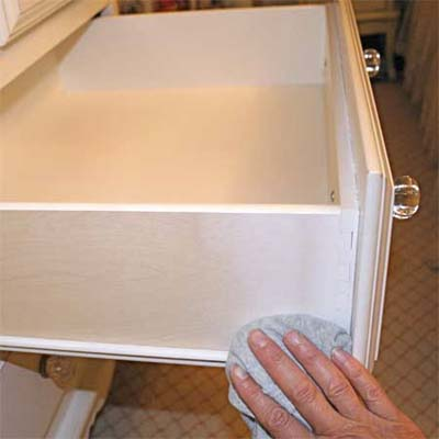 car wax applied to the tracks of drawers and windows can help them slide more easily