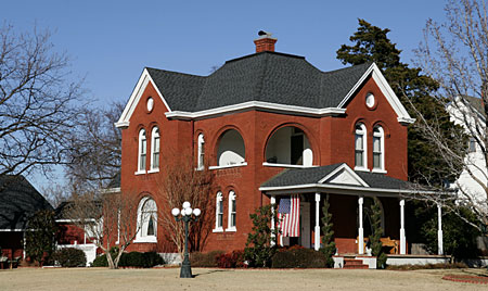 richardsonian romanesque masonry house