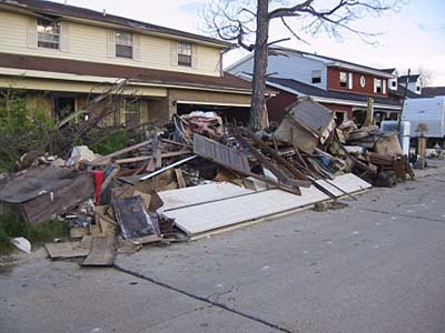 Debris from a Gutted House