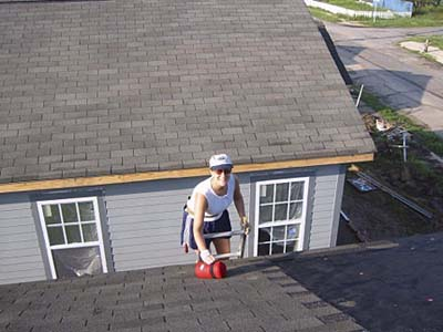 roofing at house in New Orleans