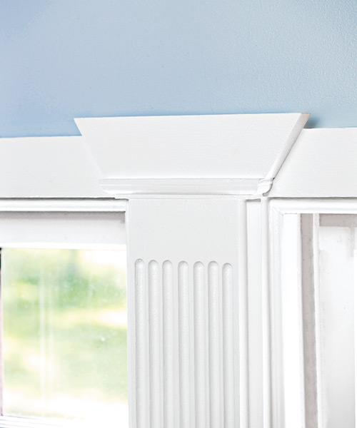 window casings with pilaster details