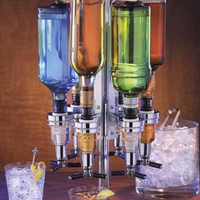 six bottle shot dispenser