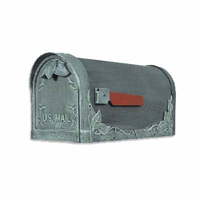 handsome, old-timey elegance from this rust-free, solid cast-aluminum mailbox