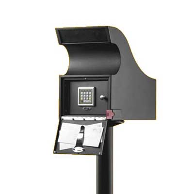 high-security, galvanized steel mailbox with keyless entry system from secure logic