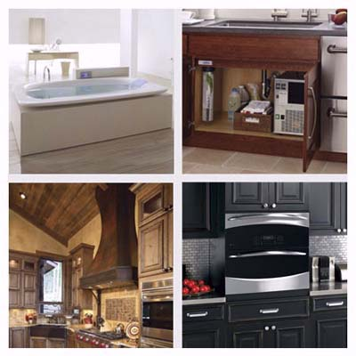 a state-of-the-art bathtub, a cold and hot water filter system, a dual oven, an industrial chic range hood