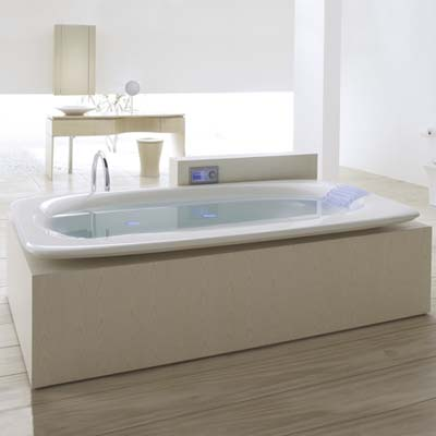 the VibrAcoustic soaking tub by Kohler