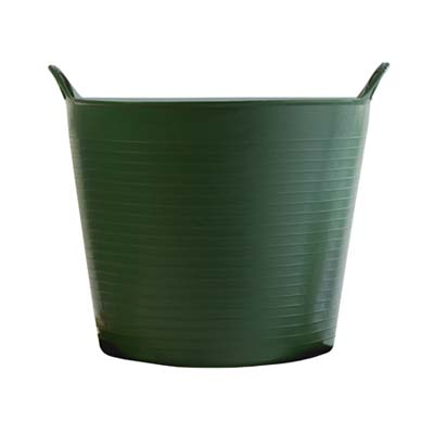 a waste bucket for gardening made by Gardener's Supply Company