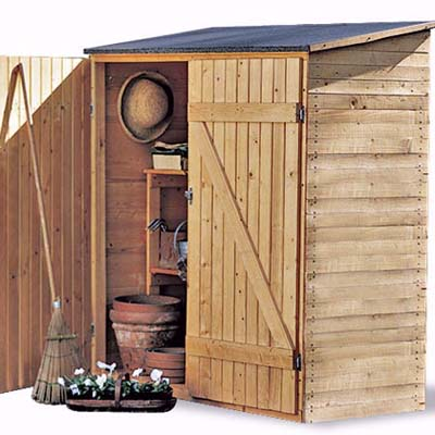 Storage Shed  with one door open
