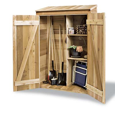 Storage Shed with doors open