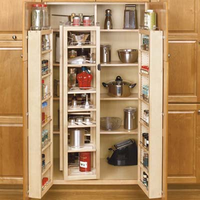 Pantry kits 14 smart storage accessories this old house for Kitchen cabinets storage