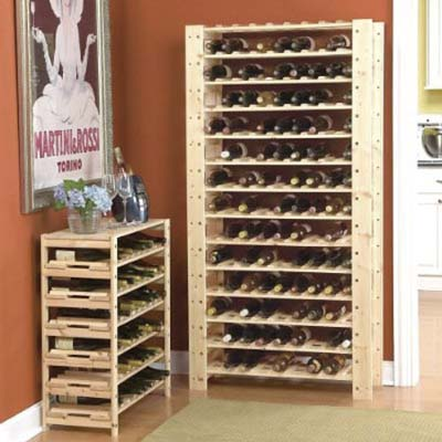 smart kitchen and linen storage upgrades to keep your life organized: swedish wood modular wine racks