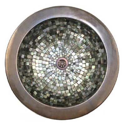 sink inlaid with mother of pearl