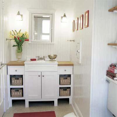 Artistic Whitewash Bath Remodel: After