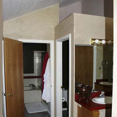 Modern Mountain Bathroom Retreat: Before