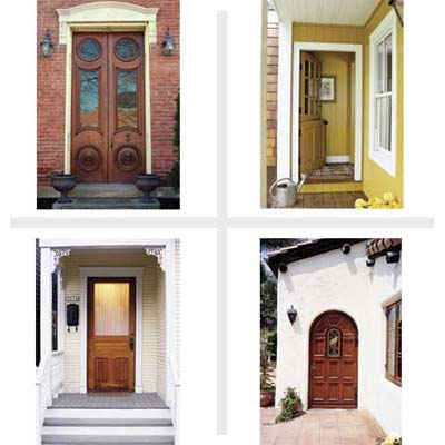 wood entry door styles