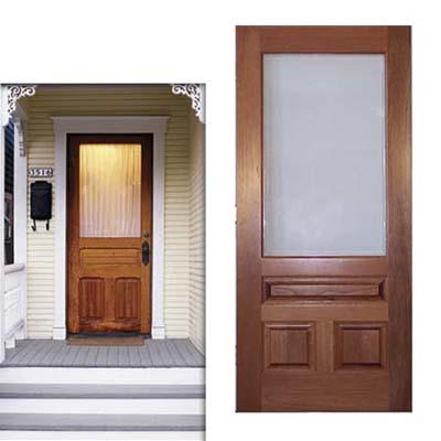 simple wood door
