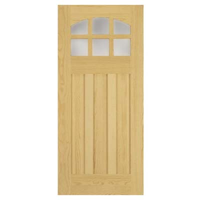 semi-custom wood entry door
