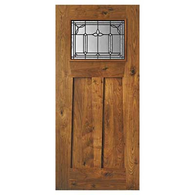 custom wood entry door