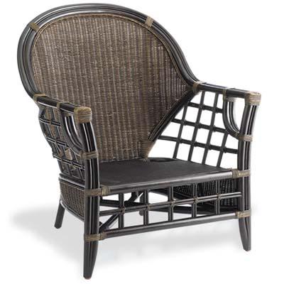 a rattan armchair