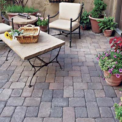 Old World Patio Concrete Paver Styles This Old House