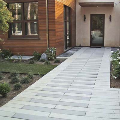 Moderne Walkway Concrete Paver Styles This Old House