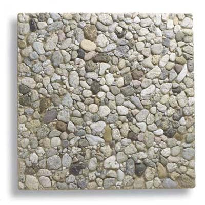 pebble finish concrete paver