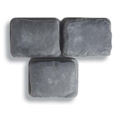 smooth cobble-stone-look concrete paver