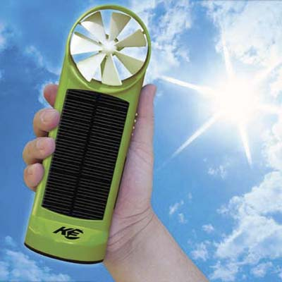 two-in-one solar and wind charger from kinesis industries