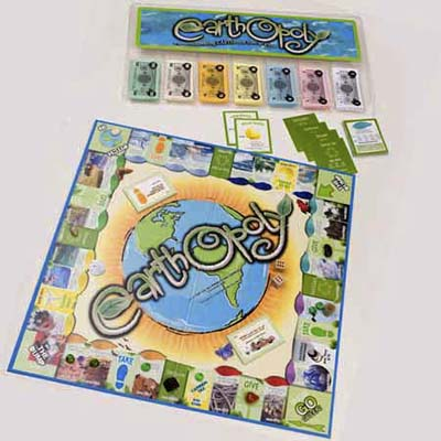 earthopoly board game from late for the sky production company