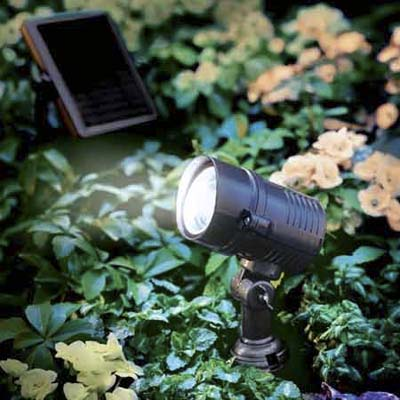 ultra-bright solar area light from gardeners supply company