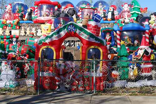 over the top christmas decorations and christmas lights