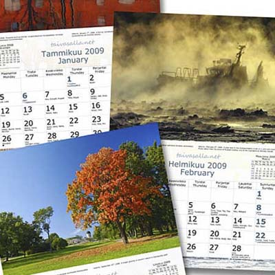 collage of old calendars