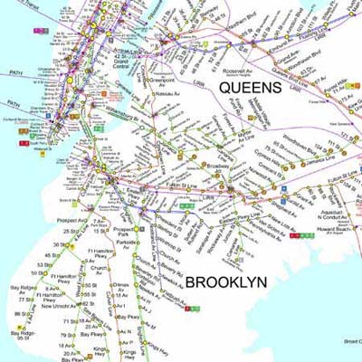 new york city subway map suitable for use wrapping gifts