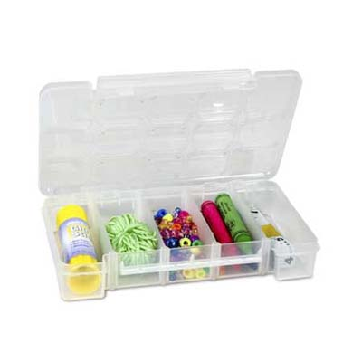 plastic storage case with moving dividers