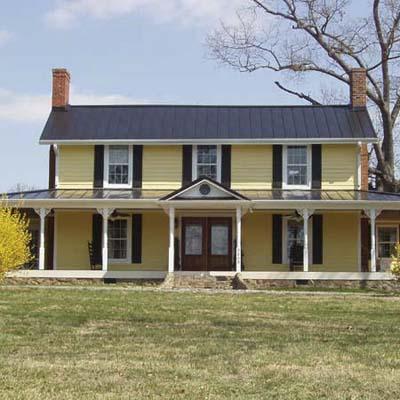 log house after remodel